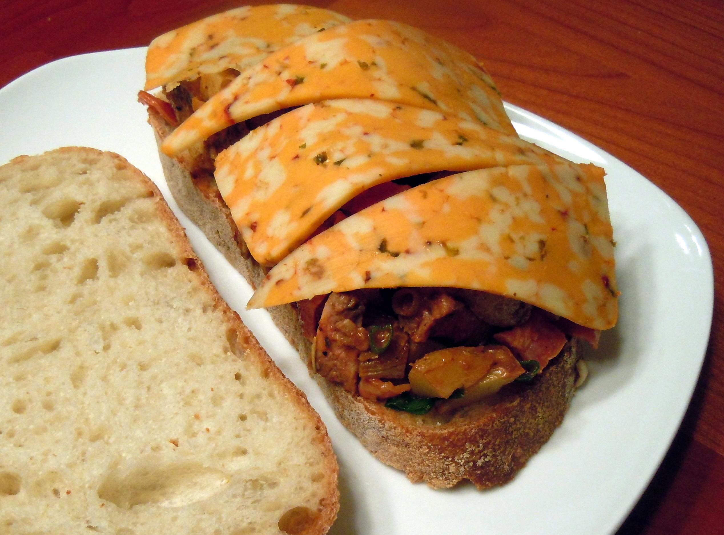 BBQ Steak Hash with Three Pepper Cheese