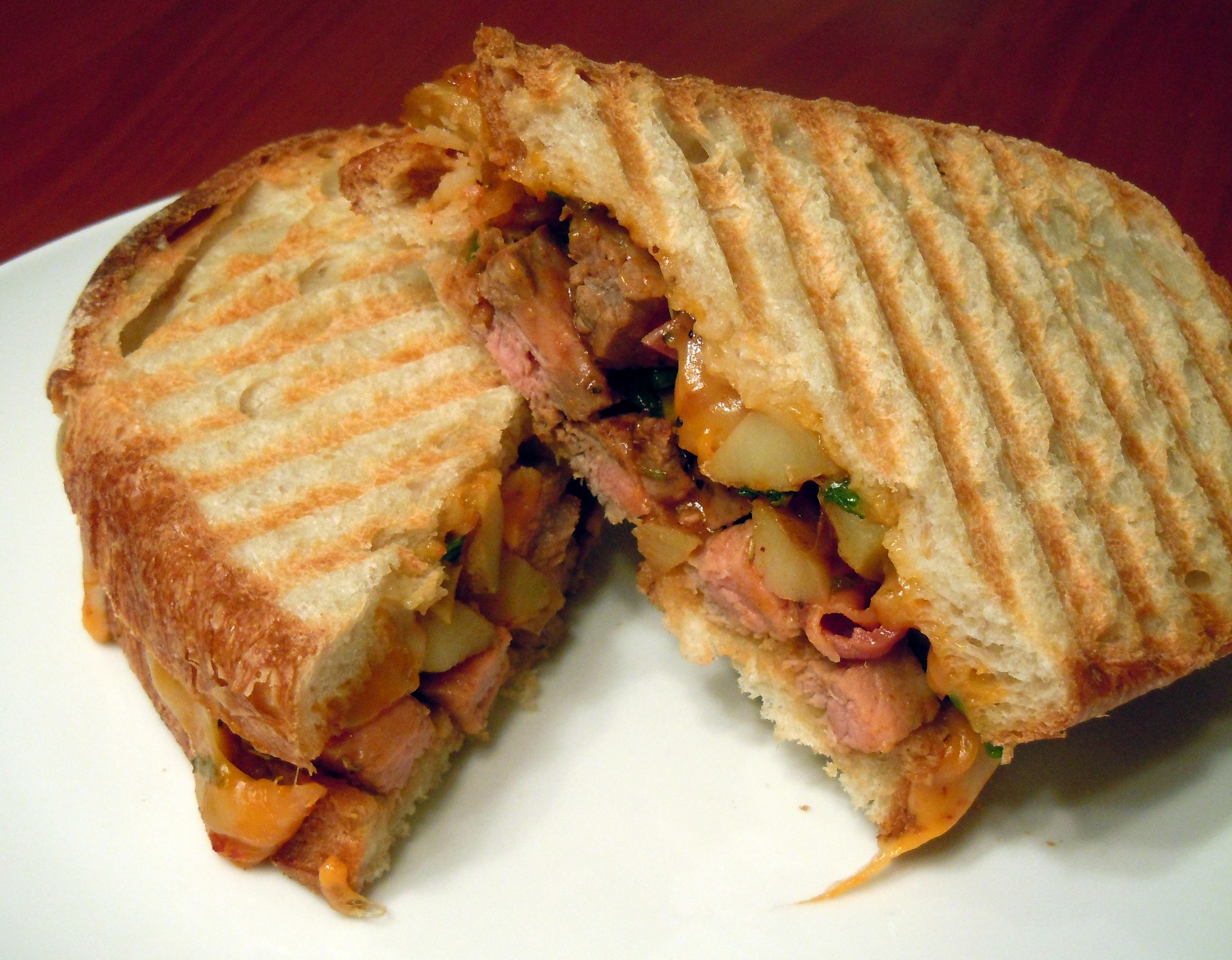 BBQ Steak Hash Panini | hashcapades