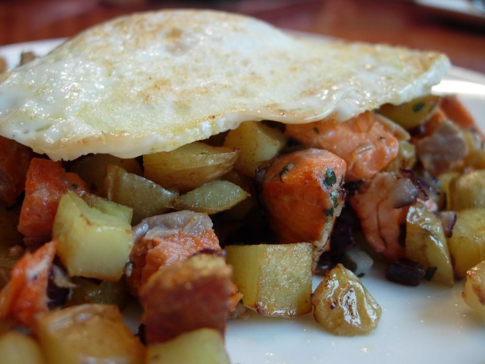 Smoked Salmon Potato Hash