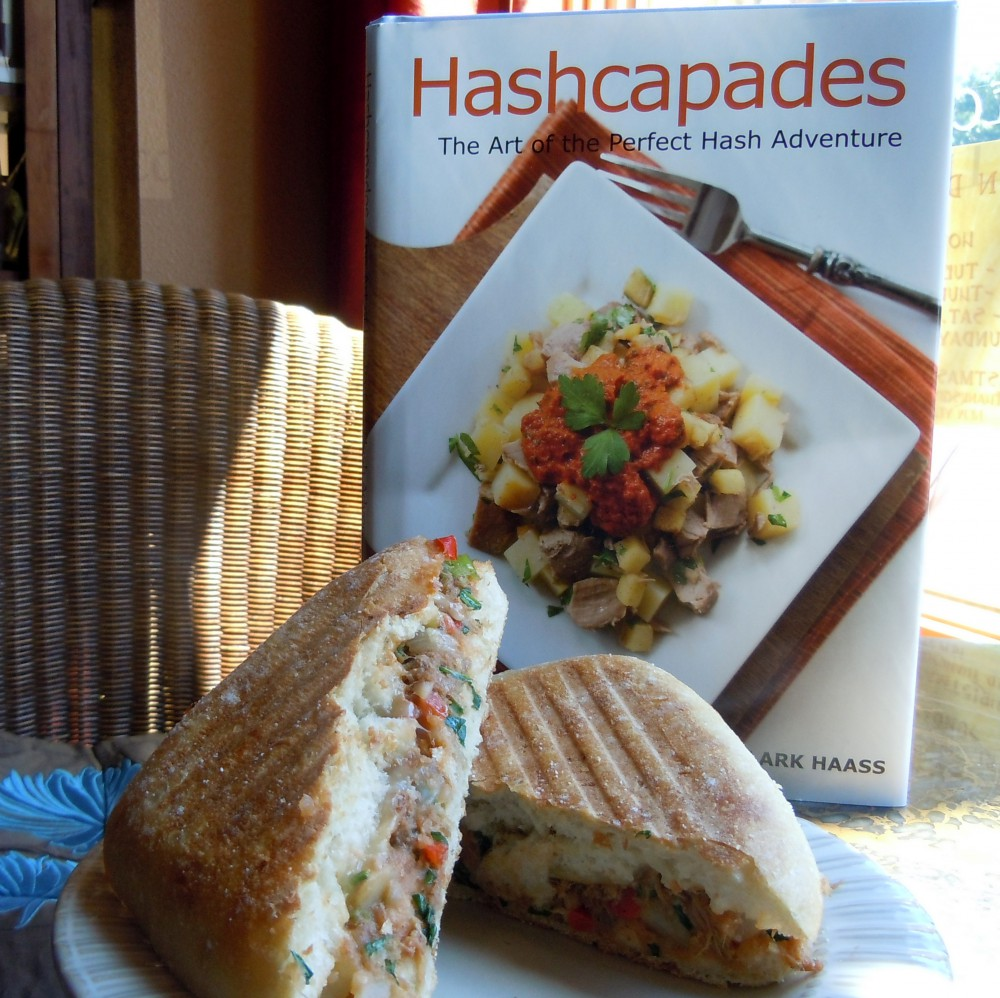 Pulled Pork Hash Panini with Book