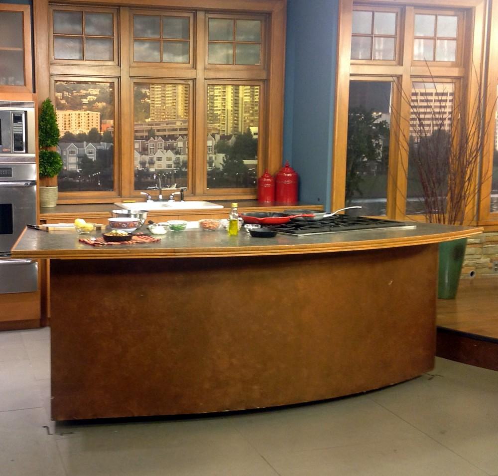 Kitchen Skid on Set