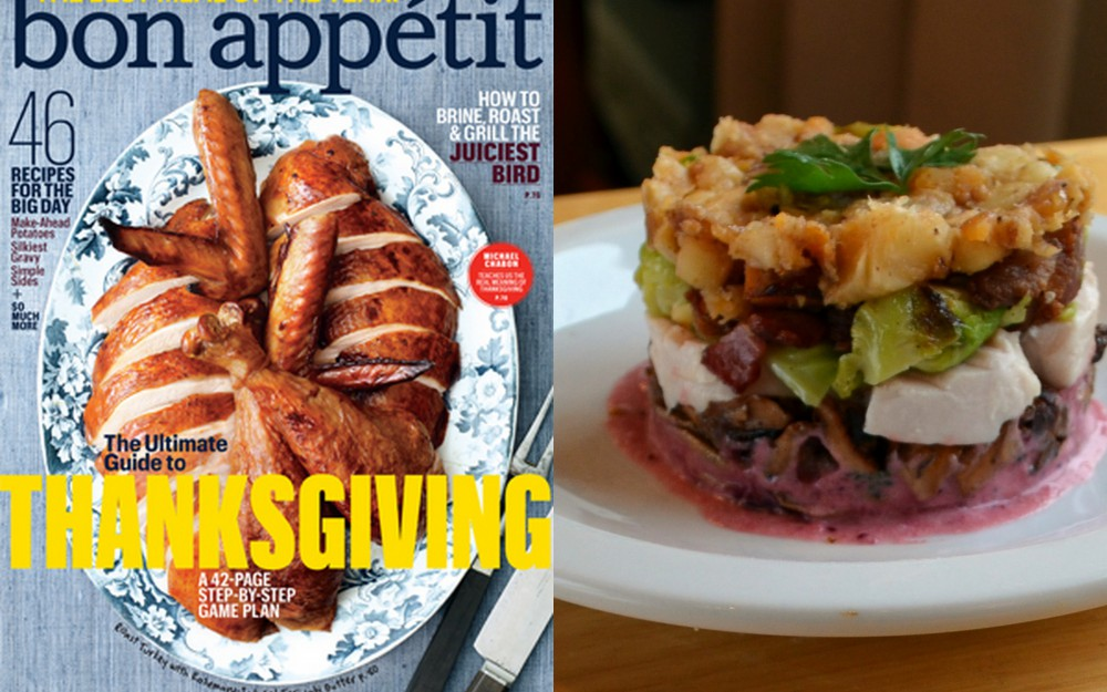 Bon Appetit Cover  and Turkey Hash