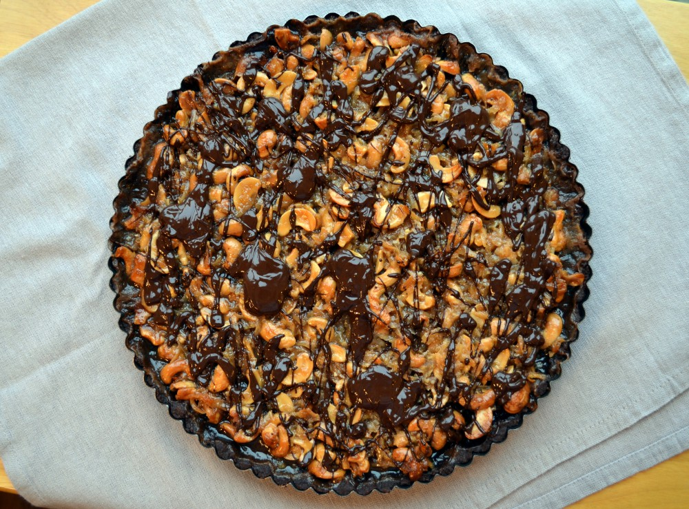 Cashew-Coconut Tart In Chocolate Crust Recipe — Dishmaps