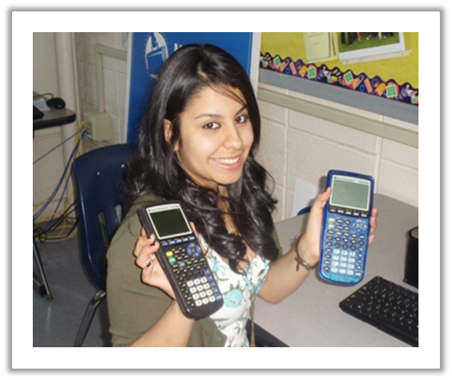 Student with Calculators