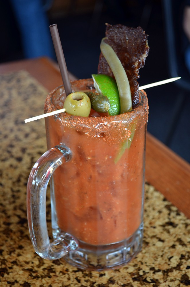 Epic Bloody Mary - practically a meal in itself!