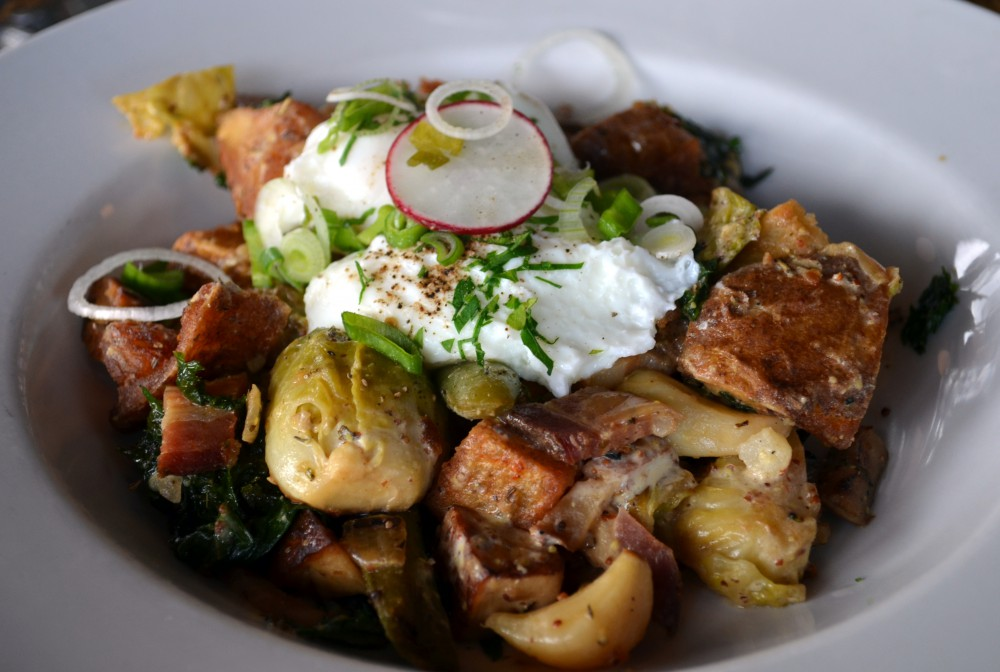 Veggie Hash with Bacon hit the spot!
